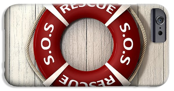 Save iPhone Cases - Rescue Lifebuoy iPhone Case by Allan Swart