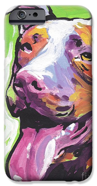Pit Bull iPhone Cases - Rescue Me iPhone Case by Lea