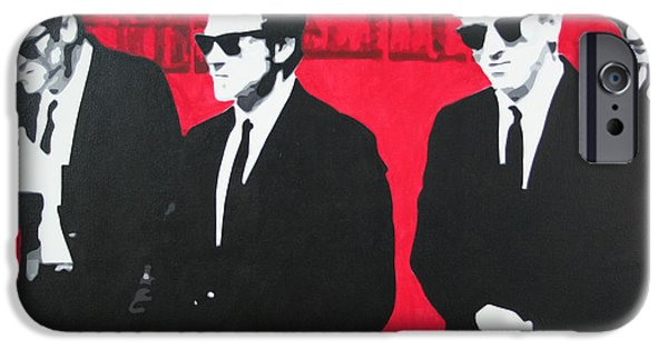 Tim Paintings iPhone Cases - Reservoir Dogs 2013 iPhone Case by Luis Ludzska