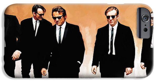 Reservoir Dogs iPhone Cases - Reservoir Dogs Movie Artwork 1 iPhone Case by Sheraz A