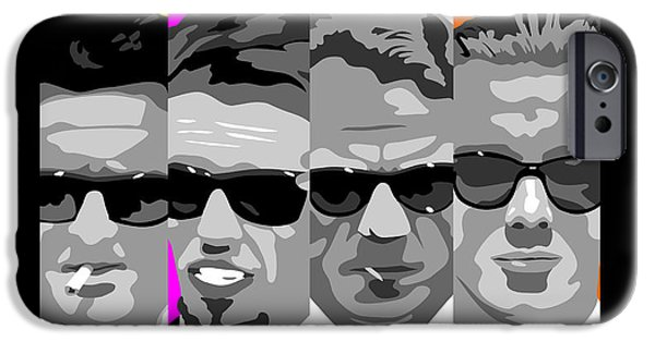 Reservoir Dogs iPhone Cases - Reservoir Dogs pop art iPhone Case by Paul Dunkel