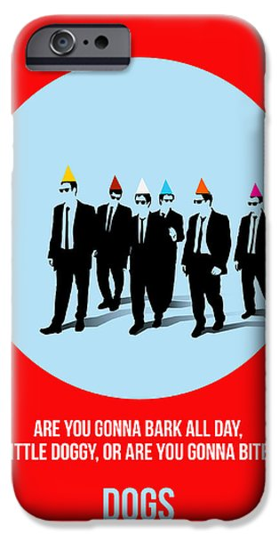 Reservoir Dogs iPhone Cases - Reservoir Dogs Poster 1 iPhone Case by Naxart Studio