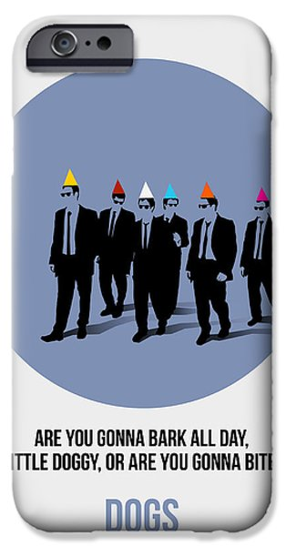 Reservoir Dogs iPhone Cases - Reservoir Dogs Poster  iPhone Case by Naxart Studio