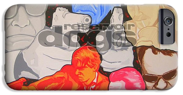 Reservoir Dogs iPhone Cases - Reservoir Dogs Tribute iPhone Case by Gary Niles