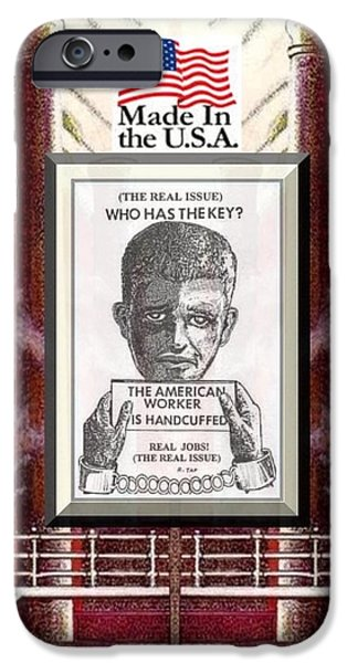 Reshoring the American Dream iPhone Case by Ray Tapajna