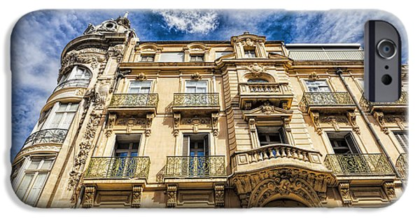 Facade iPhone Cases - Residential building in Narbonne iPhone Case by Thomas Klee