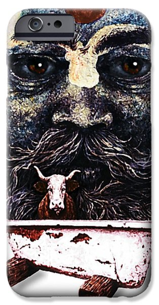 Holy Cow iPhone Cases - Respect All  iPhone Case by Hartmut Jager
