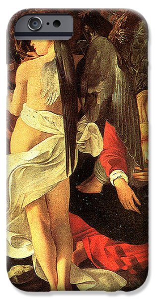 Rest on the Flight into Egypt iPhone Case by Caravaggio