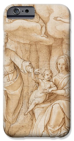 Rest on the Flight into Egypt iPhone Case by Federico Zuccaro