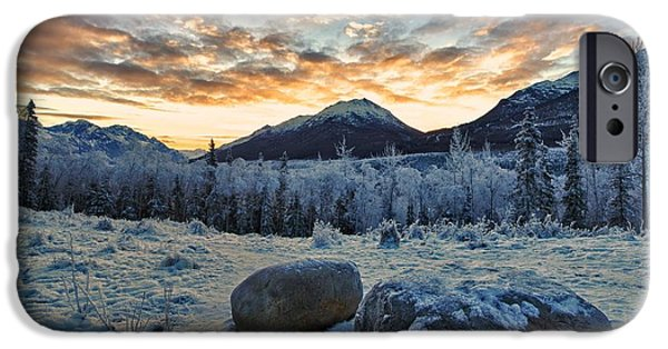 Alaska iPhone Cases - Rest Stop iPhone Case by Ed Boudreau