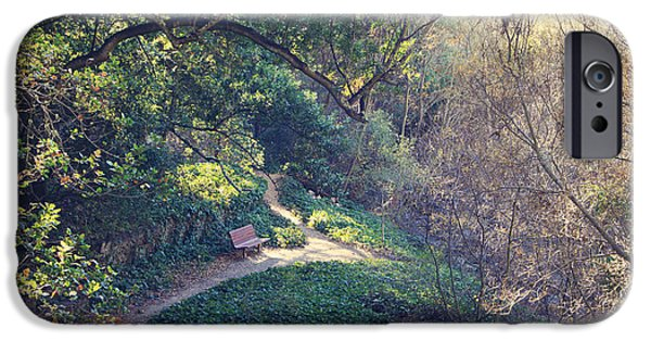 Park Benches iPhone Cases - Rest Your Soul iPhone Case by Laurie Search