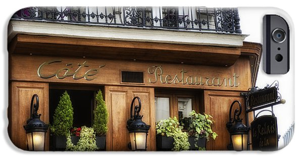 Sign-writing iPhone Cases - Restaurant in Paris iPhone Case by Nomad Art And  Design
