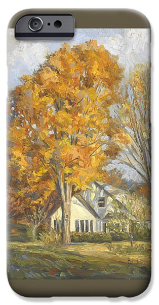 Fall iPhone Cases - Restful Autumn iPhone Case by Lucie Bilodeau