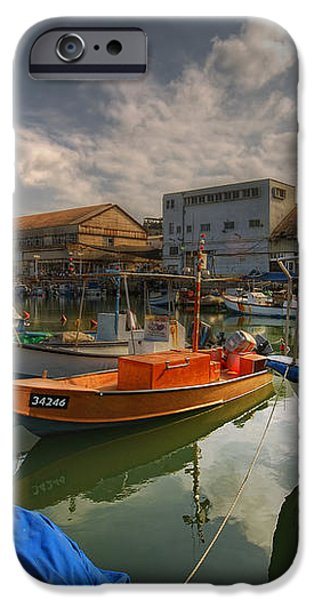resting boats at the Jaffa port iPhone Case by Ron Shoshani
