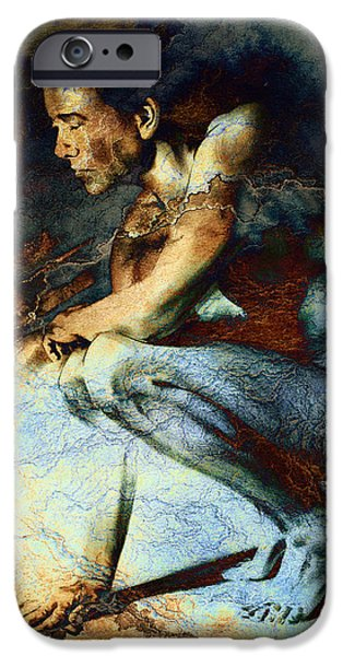 Figure iPhone Cases - Resting drawing with texture iPhone Case by Paul Davenport