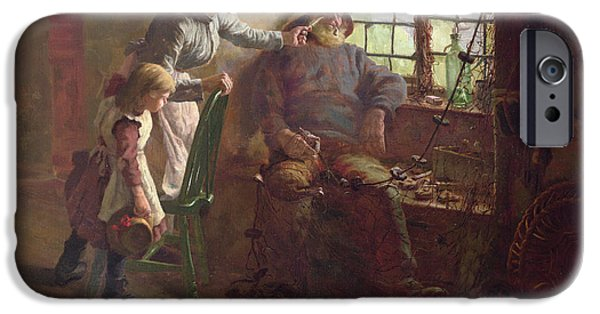 Mending iPhone Cases - Resting Oil On Canvas iPhone Case by Edwin Harris