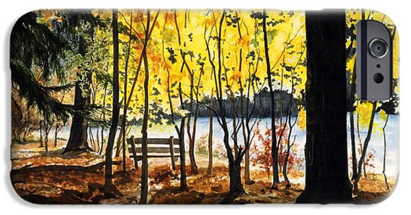 Rivers In The Fall iPhone Cases - Resting Place iPhone Case by Barbara Jewell