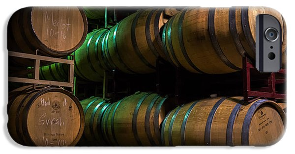 Red Wine iPhone Cases - Resting Wine Barrels iPhone Case by Iris Richardson