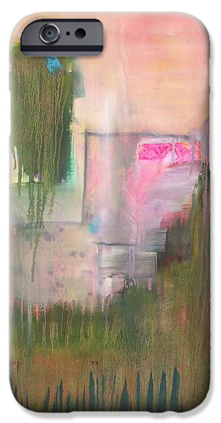 Abstract Expressionist iPhone Cases - Restless Dreams iPhone Case by Blenda Studio