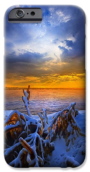 Chicago iPhone Cases - Restless Shores iPhone Case by Phil Koch
