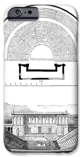 Restoration Of The Greek Theater iPhone Case by Photo Researchers