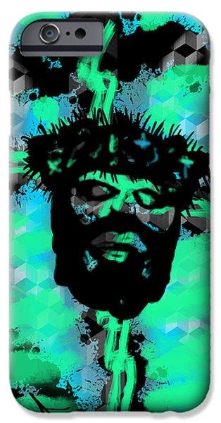 Sacrifice Mixed Media iPhone Cases - Resurrected Life iPhone Case by Robert Watson