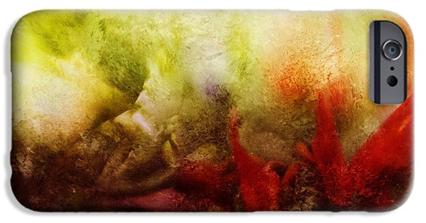 Abstract Digital Mixed Media iPhone Cases - Resurrection iPhone Case by Bonnie Bruno