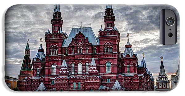St John The Russian iPhone Cases - Resurrection Gate and Iberian Chapel - Red Square - Moscow Russia iPhone Case by Jon Berghoff
