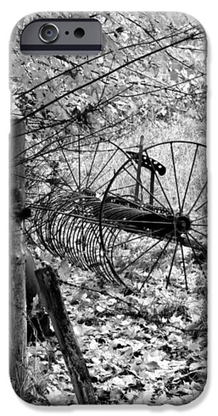 Retired iPhone Cases - Retired Hay Rake iPhone Case by Will Borden