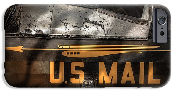 Us Postal Service iPhone Cases - Retired Mail Carrier - Pitcairn P-6 Mailwing 1929 iPhone Case by Gary Heller