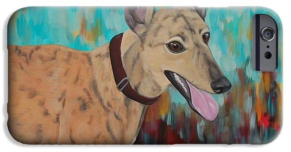Rescued Greyhound iPhone Cases - Retired Racer iPhone Case by Lauren Hammack