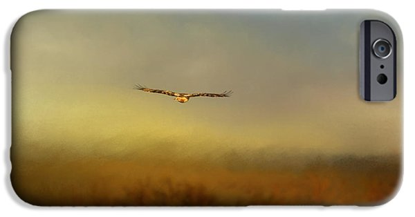 Hawk iPhone Cases - Retreating Red Tail iPhone Case by Jai Johnson