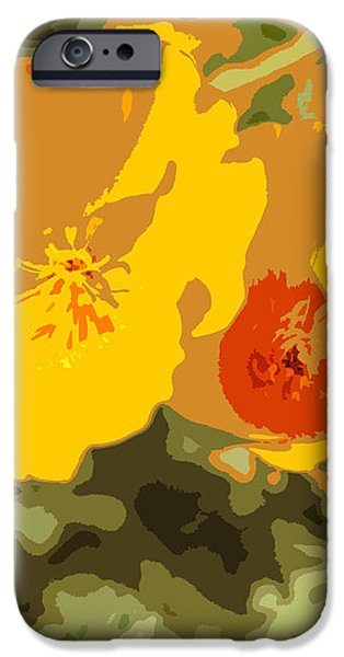Retro Abstract Poppies 3 iPhone Case by Artist and Photographer Laura Wrede