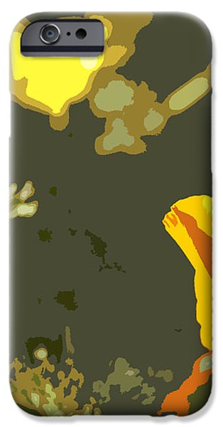 Retro Abstract Poppies 4 iPhone Case by Artist and Photographer Laura Wrede