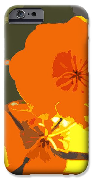 Retro Abstract Poppies iPhone Case by Artist and Photographer Laura Wrede