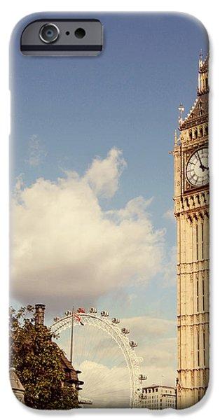 Retro Big Ben iPhone Case by Heidi Hermes