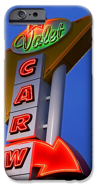 Retro Car Wash Sign iPhone Case by Norman Pogson