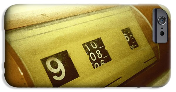 Precise iPhone Cases - Retro clock iPhone Case by Les Cunliffe