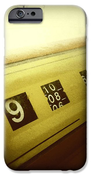 Retro clock iPhone Case by Les Cunliffe