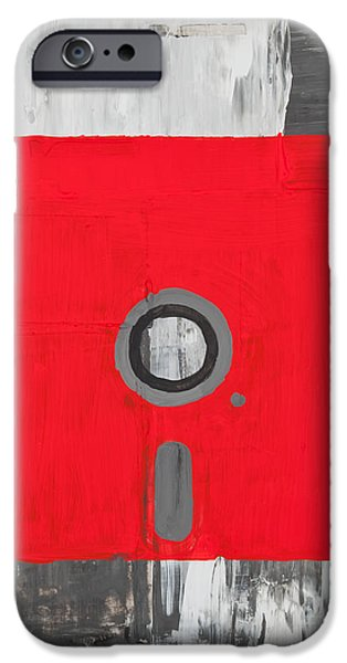 Disc Paintings iPhone Cases - Retro disc iPhone Case by Shawn Hempel