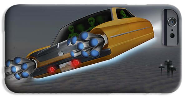 Ufo iPhone Cases - Retro Flying Object 1 iPhone Case by Mike McGlothlen