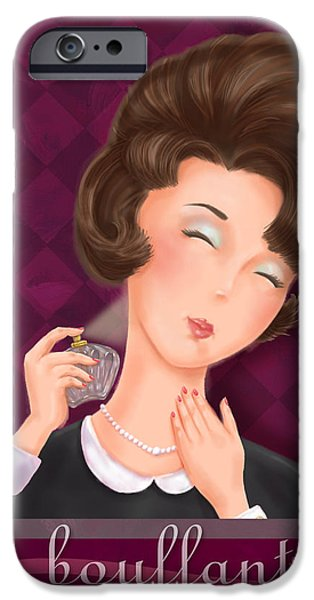 Hairstyle iPhone Cases - Retro Hairdos-Bouffant iPhone Case by Shari Warren