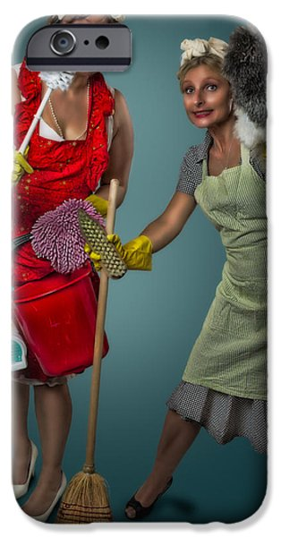 Retro Housewives II iPhone Case by Erik Brede