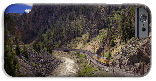 Caboose Photographs iPhone Cases - Retro iPhone Case by Joan Carroll