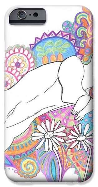 Retro Rabbit 2 iPhone Case by Cherie Sexsmith