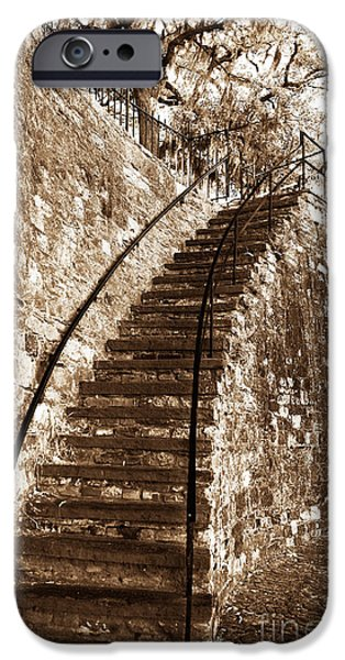 Retro Stairs in Savannah iPhone Case by John Rizzuto