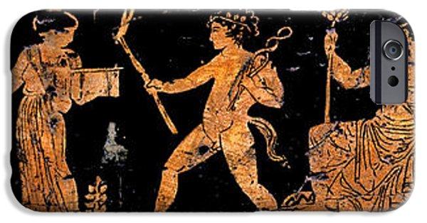 Zeus iPhone Cases - Return of Hephaistos - Detail No. 1 iPhone Case by Steve Bogdanoff