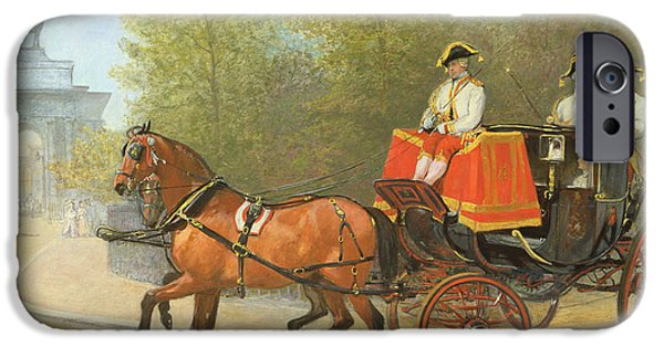 Royalty iPhone Cases - Returning from Her Majestys Drawing Room iPhone Case by Alfred Corbould