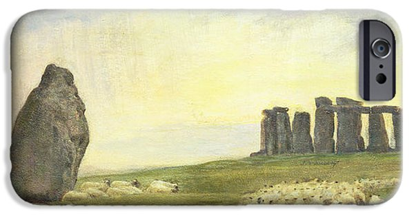 Pagan iPhone Cases - Returning Home     Stonehenge iPhone Case by Edgar Barclay