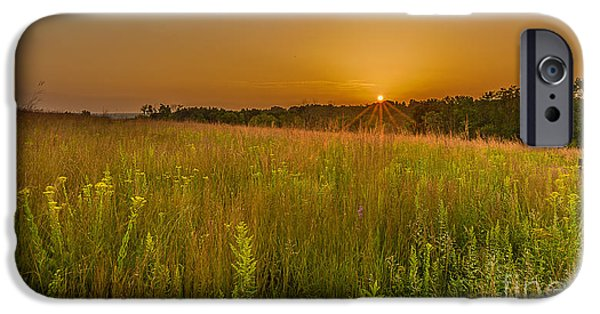 The Nature Center iPhone Cases - Retzer Sunset iPhone Case by Andrew Slater